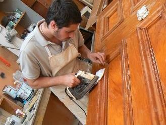 Реставрация дверей из шпона своими руками 596